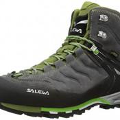 SALEWA MS MTN TRAINER MID GTX, Herren Trekking- & Wanderstiefel, Schwarz (4052 Pewter/Emerald), 45 EU
